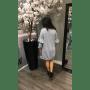 Grijze Sweater Jurk Emalie grijze wollen dikke jurk lange mouwen dress dames kleding mode musthaves online achterkant