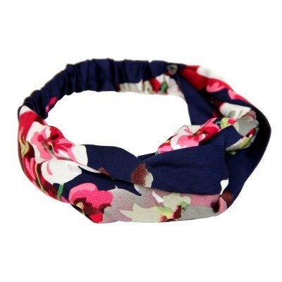 Haarband Chic Flowers blauw blauwe dames haarbanden rode bloemenprint musthave fashion haar accessoires online kopen