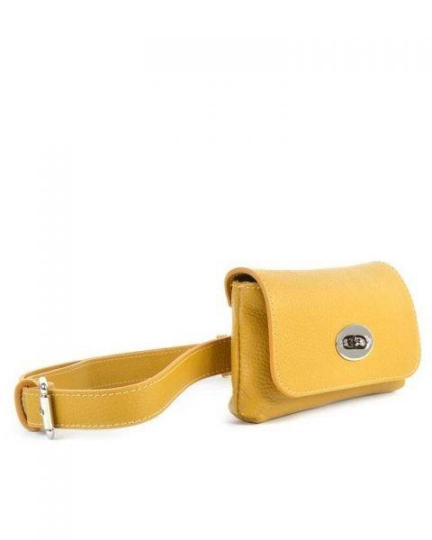 Leren Heuptas Classic geel gele beltbag-belt purse riemtas-heuptasje-met-riem-fashion-festival-musthave-look-a-like-tassen-online-giuliano