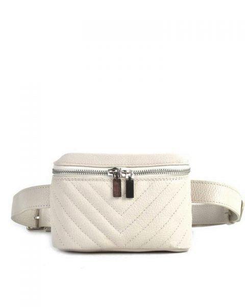 Leren Heuptas Lines beige creme nude beltbag-belt purse riemtas-heuptasje-met-riem-fashion-festival-musthave-look-a-like-tassen-online-giuliano leer rits