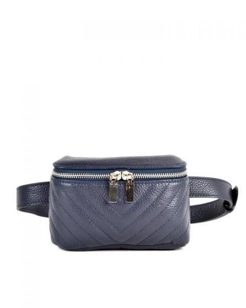 Leren Heuptas Lines blauw blauwe beltbag-belt purse riemtas-heuptasje-met-riem-fashion-festival-musthave-look-a-like-tassen-online-giuliano leer rits