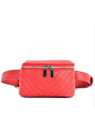 Leren Heuptas Lines rood rode beltbag-belt purse riemtas-heuptasje-met-riem-fashion-festival-musthave-look-a-like-tassen-online-giuliano leer rits