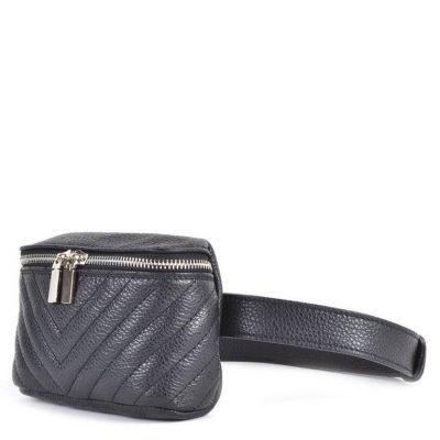 Leren Heuptas Lines -zwart zwarte -beltbag-belt purse riemtas-heuptasje-met-riem-fashion-festival-musthave-look-a-like-tassen-online-giuliano leer leder