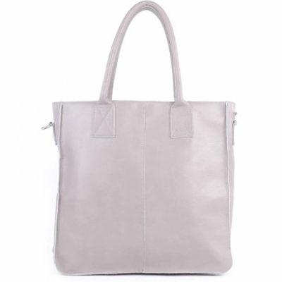 Leren-Shopper-Lara-grijs grijze-grote-lederen-shopper-rits-binnenvakken-dames-shopper-zacht-leer-online-kopen