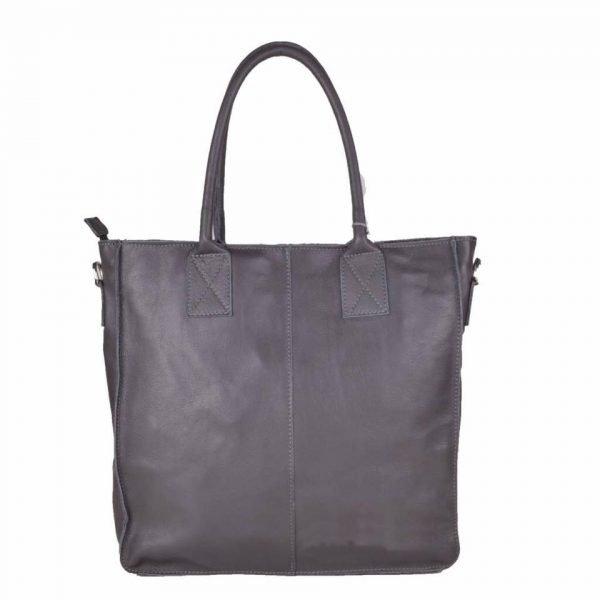 Leren Shopper Lara taupe grote lederen shopper rits binnenvakken dames shopper zacht leer online kopen