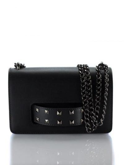 Leren Tas Studs & Chain zwarte zwart lederen tas met studs handvat voor donker kettinghengsel look a like 2017 it bags