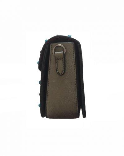 Schoudertasje Studs Brons bronzen tassen blauwe zilveren studs it bags kleine tas online bestellen fashion look a like zijkant