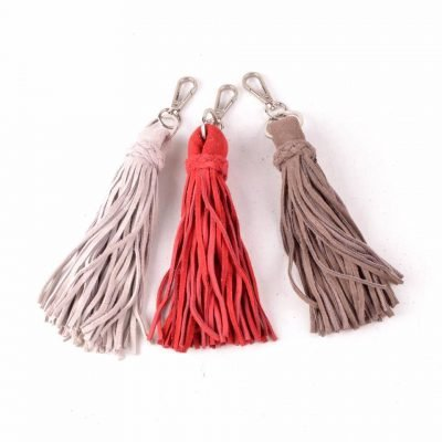 Suede Sleutelhanger kwastjes roze rood taupe tassen sleutel hangers leer dames tassen accessoires online bestellen