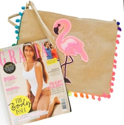 clutch flamingo dames clutches online bestellen fashion boho gekleurde bolletjes