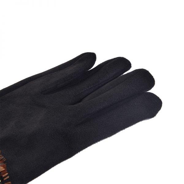 Handschoenen Indian Summer zwart zwarte dames handschoen met veren boho winter musthaves accessoires detail