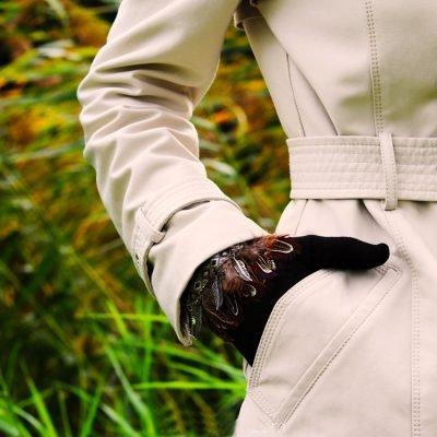 Handschoenen Indian Summer zwart zwarte dames handschoen met veren boho winter musthaves accessoires warme
