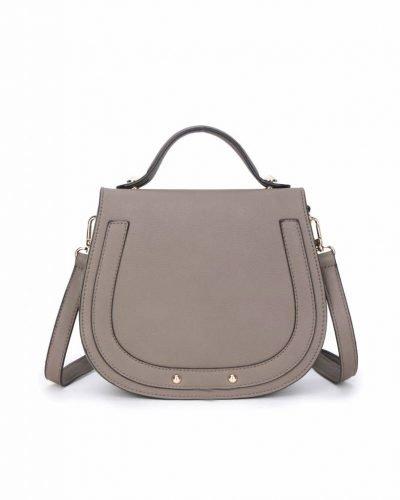 Tas Minnie Taupe dames schoudertassen handtas klein damestassen dames tas tassen itbags musthaves fashion kopen online