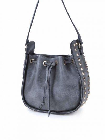 Tas Side Studs grijs grijze dames schoudertassen met studs rondom buideltasjes itbags met studs musthaves fashion kopen online