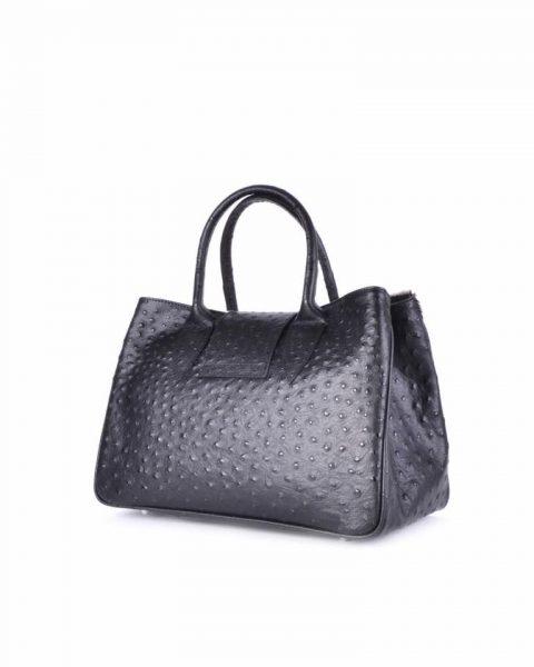Leren Tas Dierenvacht struisvogel print en koe vacht lederen dames handtassen itbags it bags luxe tassen giuliano bestellen