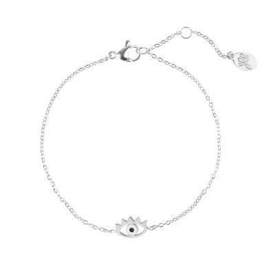 Armband Stylish Eye zilver zilveren dunne armband met oog bedel Bracelet sieraden fashion musthave items