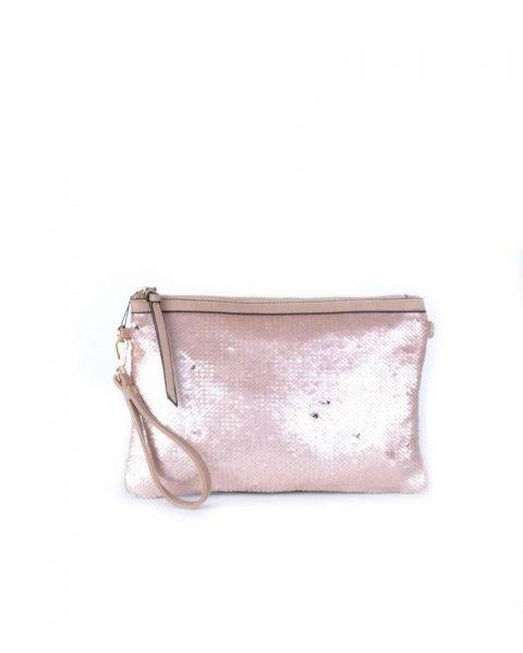 Clutch pailletten rose clutchtas clutches met zwarte pailletten glitter sparkle it bags kleine tassen online