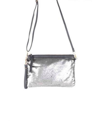 Clutch pailletten zilver zilveren clutchtas clutches met zwarte pailletten glitter sparkle it bags kleine tassen online