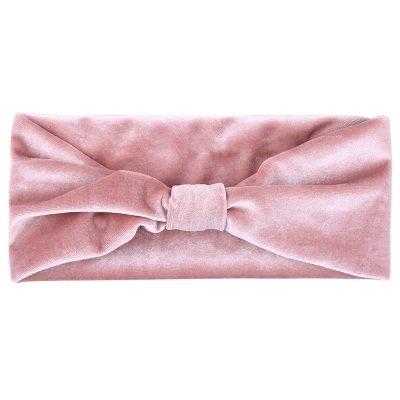 Haarband Velvet love roze pink dames haarbanden haaraccessoires headbands online haar elastieken kopen