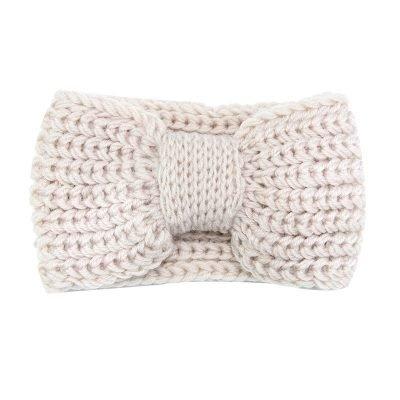 Haarband-Winter-Bow beige nude creme -wollen-dames-haarbanden-musthave-fashion-dames-haar-accessoires-online-kopen-vrouwen