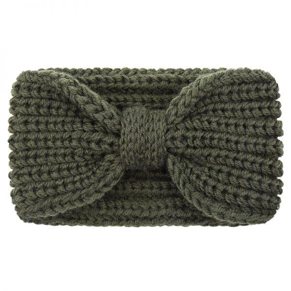 Haarband-Winter-Bow groen groene gebreide-wollen-dames-haarbanden-musthave-fashion-dames-haar-accessoires-online-kopen-vrouwen