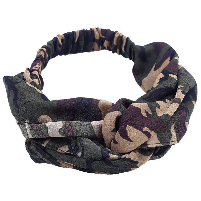 Legerprint Trui Dames.Haarband Pretty Tough Dames Haarbanden Army Leger Print Groen Groene