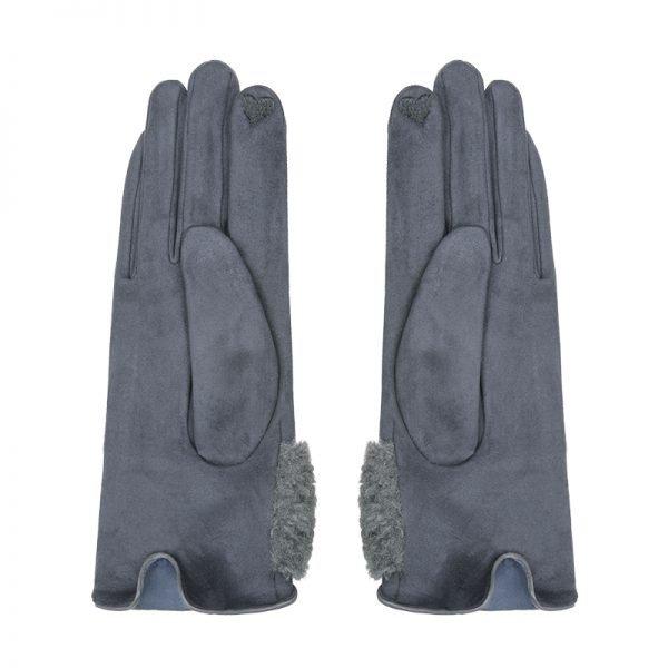 Handschoenen Sheep Fur grijs grijze dames handschoen suedine fake fur