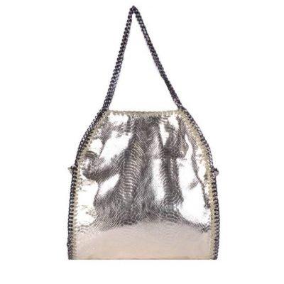 Handtas-Metallic-Chain L snake goud gouden -dames-tas-tassen-giuliano-it-bags-schoudertas-luxe-goedkope-bags-online kopen