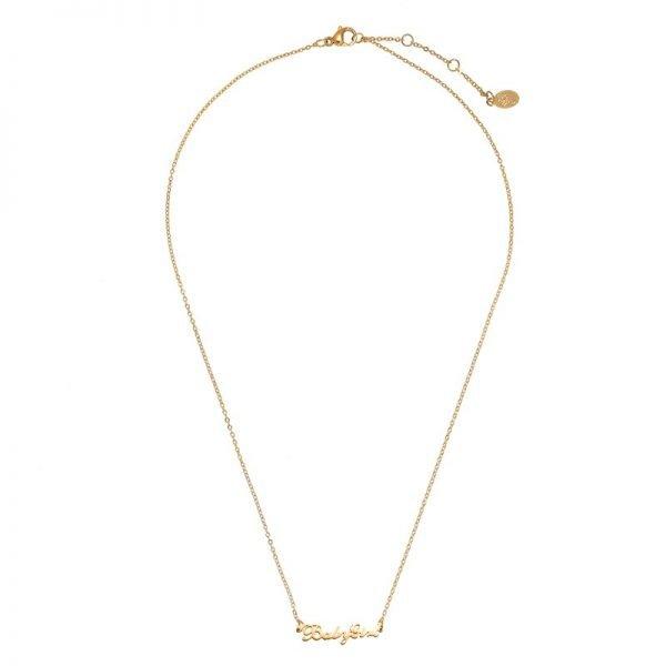 Ketting Baby Girl goud gouden rvs dames ketting met tekst mooie valentijn kado musthave accessoires mode fashion