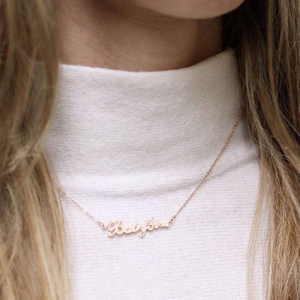 Ketting Baby Girl goud gouden rvs dames ketting met tekst mooie valentijn kado musthave accessoires mode fashion kopen