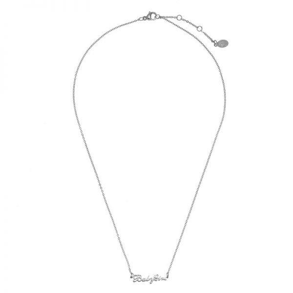 Ketting Baby Girl zilver zilveren rvs dames ketting met tekst mooie valentijn kado musthave accessoires mode fashion