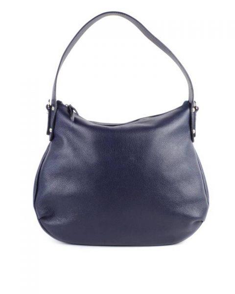 eb161725d17 Leren Tas Miley blauw blauwe lederen handtassen tassen zilver beslag  musthave giuliano leer italiaans dames it