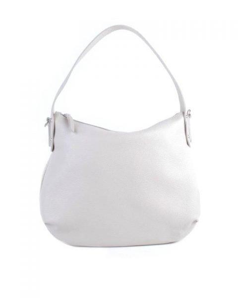 Leren Tas Miley gebroken wit witte lederen handtassen tassen zilver beslag musthave giuliano leer italiaans dames it bags online