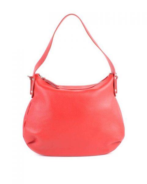 Leren Tas Miley rood rode lederen handtassen tassen zilver beslag musthave giuliano leer italiaans dames it bags online - kopie