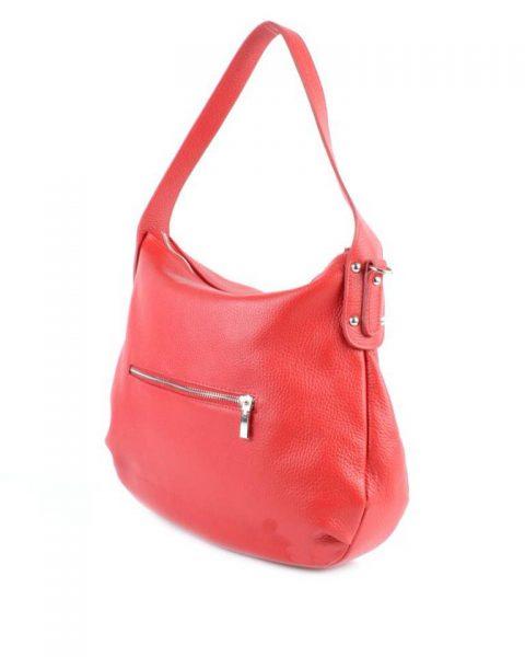 Leren Tas Miley rood rode lederen handtassen zilver beslag musthave giuliano leer italiaans dames it bags online - kopie