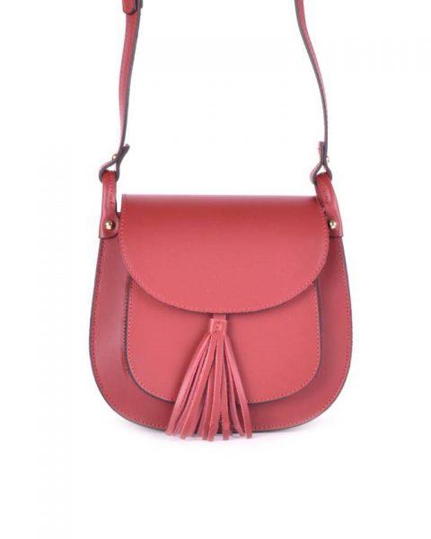 Leren-schoudertas-Kim-rood rode-tas-kwastje-festival-tassen-luxe-giuliano-lederen-tassen-online-kopen it bags