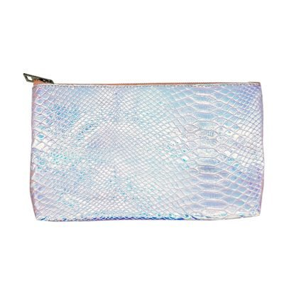 Make-up tasje Sweet Mermaid wit witte metallic snake slangenprint etui dames tasjes fashion musthave online kopen