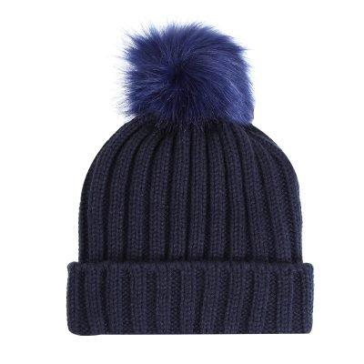 Must Winterproof Beanie blauw blauwe dames mutsen wollen bolletje warme mustsen beanies online bestellen kopen