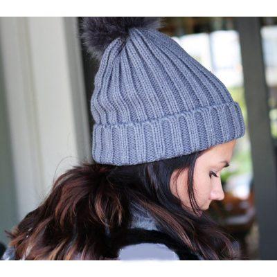 Must Winterproof Beanie blauw blauwe dames mutsen wollen bolletje warme mustsen beanies online bestellen kopen fashion