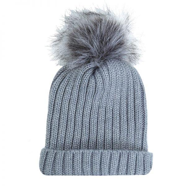 Must Winterproof Beanie grijs grijze dames mutsen wollen bolletje warme mustsen beanies online bestellen kopen