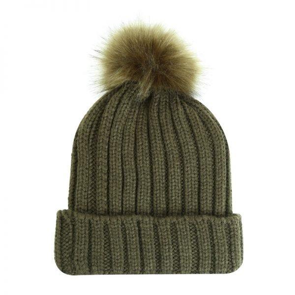 Must Winterproof Beanie groen groene dames mutsen wollen bolletje warme mustsen beanies online bestellen kopen