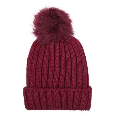 Must-Winterproof-Beanie-rood rode-dames-mutsen-wollen-bolletje-warme-mustsen-beanies-online-bestellen-kopen