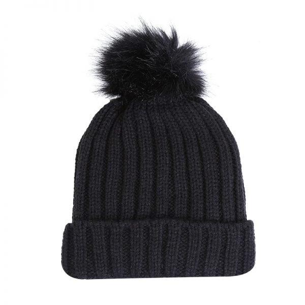 Must Winterproof Beanie zwart zwarte dames mutsen wollen bolletje warme mustsen beanies online bestellen kopen