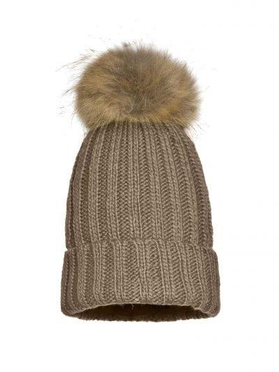Must Winterproof taupe bruin creme dames mutsen wollen bolletje warme mustsen beanies online bestellen fashion bestellen