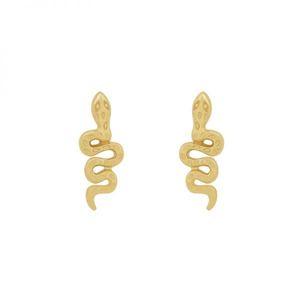 Oorbellen Snake goud gouden oorbel slang vorm kleine earrings