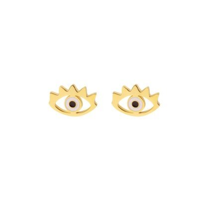 Oorbellen Stylish Eye goud gouden dames oorbel Earrings oog musthave fashion items oorknopjes met ogen