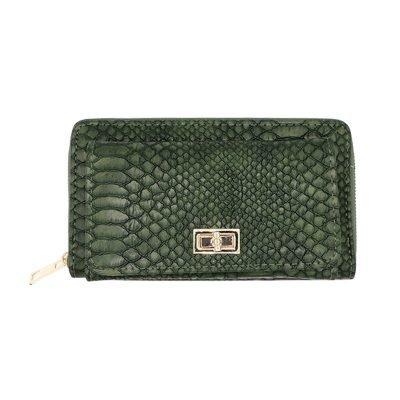 Portemonnee Stylish Croco groen groene kroko crocoprint dames poremonnees clutches Wallet wallets musthave fashion online