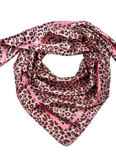 Sjaaltje Sweet Animal musthave-dames-sjaaltjes-kleine-met leopard panter print en roze -gekleurde-haar-accessoires-scarfs-
