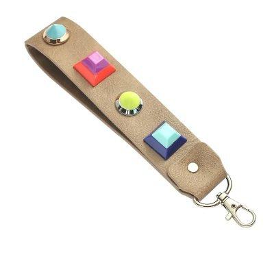 Sleutelhanger Colour Blocking taupe sleutelhangers neon gekleurde studs musthave fashion items online bestellen