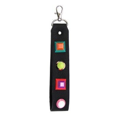 Sleutelhanger Colour Blocking zwart zwarte sleutelhangers neon gekleurde studs Keychain musthave fashion items online bestellen
