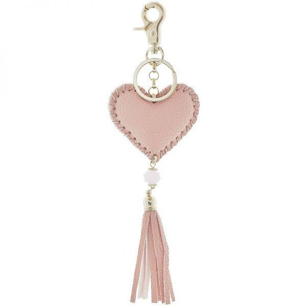 192a3be306540f Sleutelhanger Hart | Tassenhanger met hart & franjes in 4 kleuren